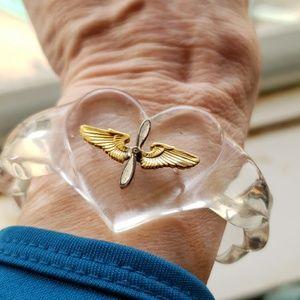 Jewelry - WWII lucite sweetheart bracelet